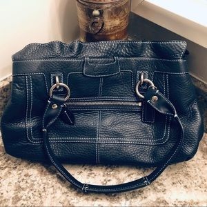 COACH Large over the shoulder leather purse
